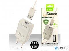 شارژر دیواری سریع و کابل میکرو یو اس بی باوین Bavin PC658Y Micro USB Charger