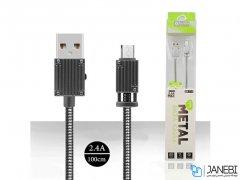 کابل شارژ و انتقال داده فلزی میکرو یو اس بی باوین Bavin CB-111 Micro USB Cable 1m