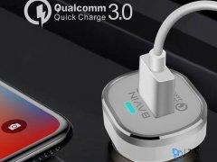 شارژر فندکی سریع و کابل میکرو یو اس بی باوین Bavin PC533-A Micro USB Car Charger