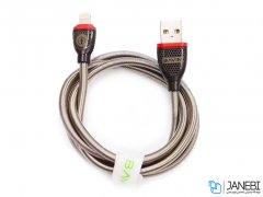 کابل شارژ و انتقال داده فلزی لایتنینگ باوین Bavin CB-128 Lightning Cable 1m