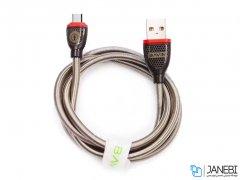 کابل شارژ و انتقال داده فلزی تایپ سی باوین Bavin CB-128 Type-C Cable 1m