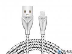 کابل شارژ و انتقال داده میکرو یو اس بی باوین Bavin CB069 Micro USB Cable 1m