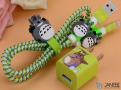 پک محافظ کابل شارژ آیفون توتورو Charger Protector Pack Totoro