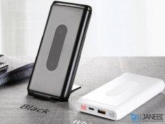 پاور بانک و شارژر وایرلس بیسوس Baseus Dual coil 10000mAh Wireless Charging Power Bank