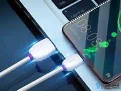 کابل شارژ تایپ سی هواوی بیسوس Baseus Purple Ring HW Flash Charge Type-C Cable 1m