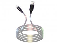 کابل لایتنینگ رقص نور یوسامز Usams U16 Volume Control Led Lightning Cable 1m