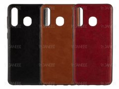 قاب طرح چرم سامسونگ Huanmin Leather Case Samsung Galaxy A30