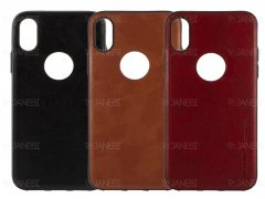 قاب طرح چرم آیفون Huanmin Leather Case Apple iPhone X/XS