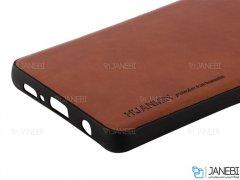 قاب طرح چرم سامسونگ Huanmin Leather Case Samsung Galaxy S10 Plus