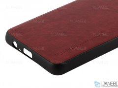 قاب طرح چرم سامسونگ Huanmin Leather Case Samsung Galaxy A6 Plus 2018