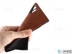 قاب طرح چرم سامسونگ Huanmin Leather Case Samsung Galaxy Note 10 Plus