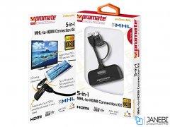 مبدل ام اچ ال چندکاره پرومیت Promate proShare.MHL 5-in-1 MHL-to-HDMI Connection Kit