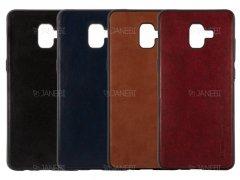 قاب طرح چرم سامسونگ Huanmin Leather Case Samsung Galaxy J6 Plus