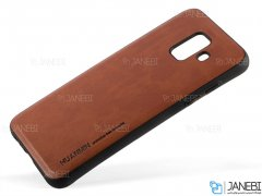 قاب طرح چرم سامسونگ Huanmin Leather Case Samsung Galaxy A6 2018