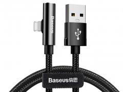 کابل صدا و شارژ لایتنینگ بیسوس Baseus Rhythm Bent Connector Audio 1.2m