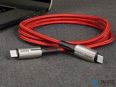 کابل شارژ سریع و انتقال داده تایپ سی بیسوس Baseus Water Drop Shape Lamp Type-C Cable 1m