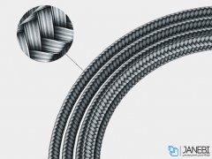 کابل شارژ و انتقال داده تایپ سی راک Rock Type-C Dual-end L-shaped Metal Charge & Sync Cable