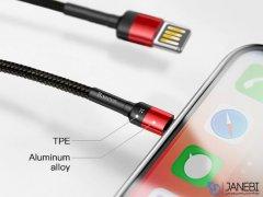 کابل شارژ لایتنینگ بیسوس Baseus Cafule Special Edition Lightning Cable 1m