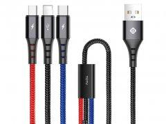 کابل سه سر توتو دیزاین Totu Design 3-In-1 B3BB-012 Cable 1.2m