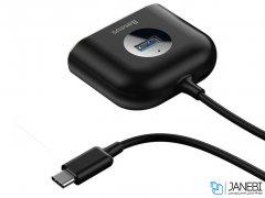 هاب آداپتور تایپ سی بیسوس Baseus Square round 4 in 1 USB HUB Adapter