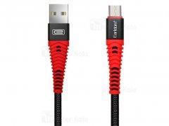 کابل شارژ و انتقال داده میکرو یو اس بی ارلدام Earldom EC-060M Micro USB Cable 1m