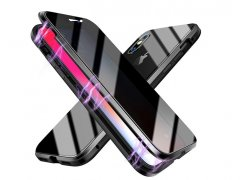 قاب مگنتی و محافظ صفحه حفظ حریم شخصی آیفون Privacy Glass Magnetic 360 Case Apple iPhone XS Max