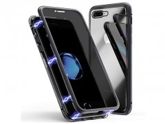 قاب مگنتی و محافظ صفحه حفظ حریم شخصی آیفون Privacy Glass Magnetic 360 Case Apple iPhone 7/8 Plus