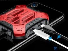 فن لایتنینگ اتصال همزمان هندزفری و شارژر بیسوس Baseus X-Men Audio Radiator ACSR-XJ09