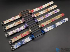 بند گلدار دستبند سلامتی شیائومی Xiaomi Mi Band 3/4 Flower Strap