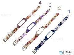 بند گلدار دستبند شیائومی Xiaomi Mi Band 3/4 Flower Strap