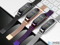 بند فلزی دستبند شیائومی Xiaomi Mi Band 3/4 Metal Magnetic Strap