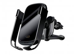 پایه نگهدارنده و شارژر وایرلس بیسوس Baseus Rock Smart Car Holder Wireless Charger