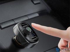 شارژر فندکی بیسوس با قابلیت پخش موسیقی و تماس Baseus Car Charger S09 T-Typed wireless mp3 charger