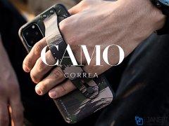قاب محافظ استندینگ طرح چریکی ویوا مادرید آیفون Viva Madrid Camou Interated Video Stand Iphone 11 Pro Max