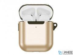 کاور محافظ فلزی قلاب دار ایرپاد Joyroom Titanium Gold Series Airpods 1/2 JR-BP574