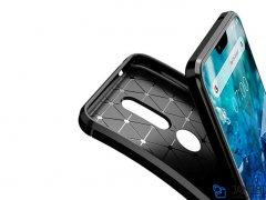 قاب ژله ای فیبر کربن نوکیا Becation Carbon Fiber Case Nokia 7.1