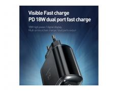 آداپتور فست شارژ 18 وات مکدودو Mcdodo CH-717 USB-C/USB LED Adapter