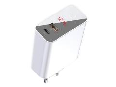 آداپتور فست شارژ 45 وات بیسوس Baseus BS-EU907 USB-C/USB-A LED Adapter