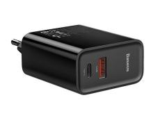 آداپتور فست شارژ 30 وات بیسوس Baseus BS-EU905 USB-C/USB-A Quick Travel Charger