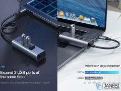 هاب آداپتور تایپ سی و شبکه بیسوس Baseus CAHUB-M0G HUB Adapter