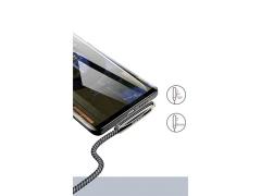 کابل سوپر شارژ و انتقال داده تایپ سی یوسامز Usams Type-c Zinc Alloy Braided Cable 1.2m