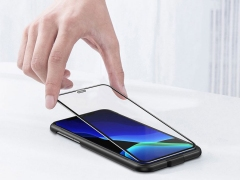 محافظ صفحه نمایش شیشه ای و محافظ اسپیکر بیسوس آیفون Baseus Full Glass Screen iPhone XR