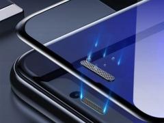 محافظ صفحه نمایش شیشه ای و محافظ اسپیکر دوتایی بیسوس آیفون Baseus Full Glass Screen iPhone XS Max