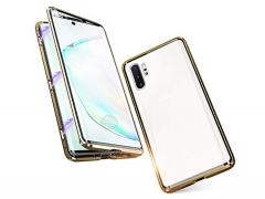 قاب مگنتی و محافظ صفحه شیشه ای سامسونگ Glass Magnetic 360 Case Samsung Note 10 Plus
