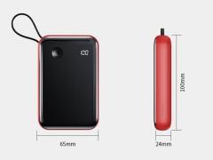 پاور بانک بیسوس با کابل تایپ سی Baseus BS-P1002C Mini S Digital Display 10000mAh