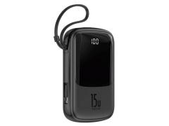 پاور بانک بیسوس با کابل لایتنینگ Baseus Q pow BS-P1001L Digital Display 10000mAh Power Bank