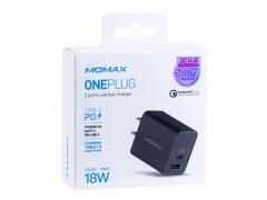شارژر دیواری سریع مومکس Momax UM13CN OnePlug PD QC3.0 Charger 18W