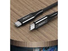 کابل شارژ سریع تایپ سی راک Rock R3 Type-C Cable 1m
