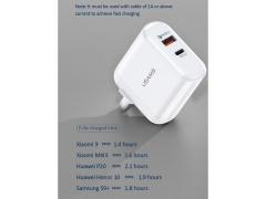شارژر دیواری سریع 2 پورت یوسامز Usams T12 PD QC3.0 Fast USB Wall Charger