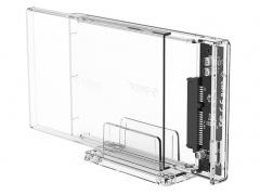 باکس هارد اینترنال به اکسترنال اوریکو با استند ORICO 2.5 inch Transparent USB3.0 Hard Enclosure Stand 2159U3